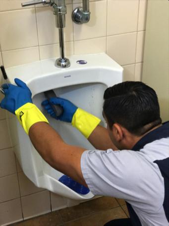Hygenix specialist cleaning restroom