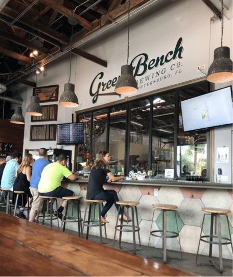 Green Bench Brewery is a great spot to grab a local brew on Spring Break