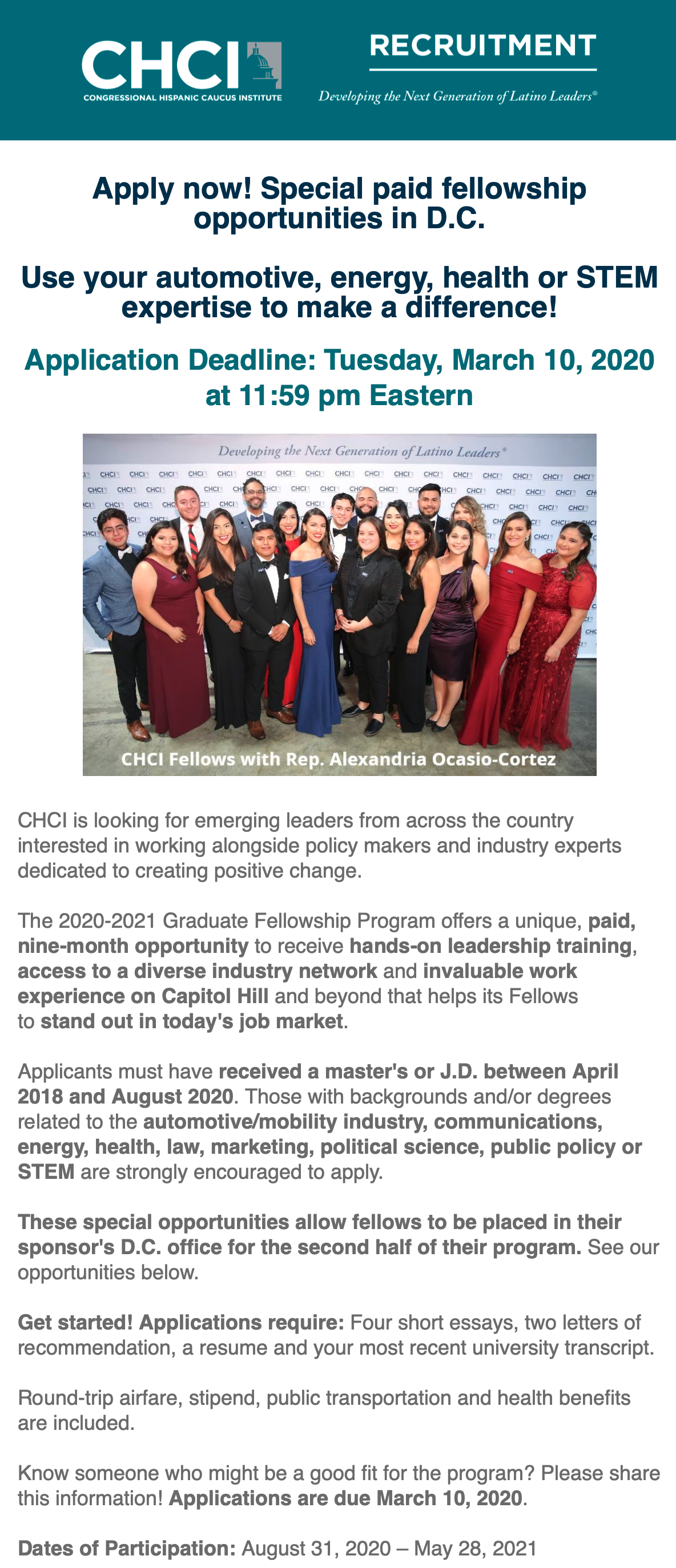CHCI Recruitment