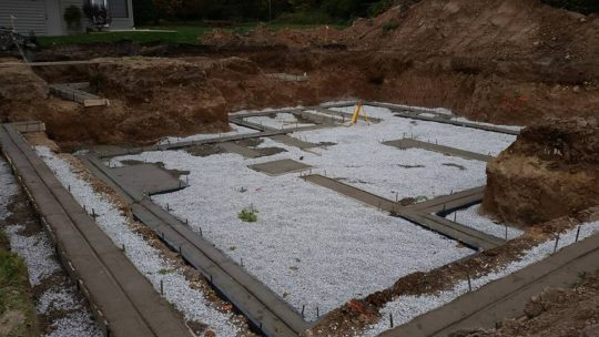 New Home Concrete Footings