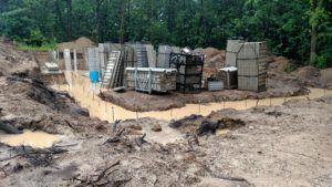Dewatering during home construction