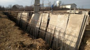 Retaining Wall Construction at Midwest Form & Supply