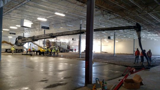 Interior Concrete Flatwork Pour for Horizon Retail Construction at Floor & Decor Brookfield Wisconsin
