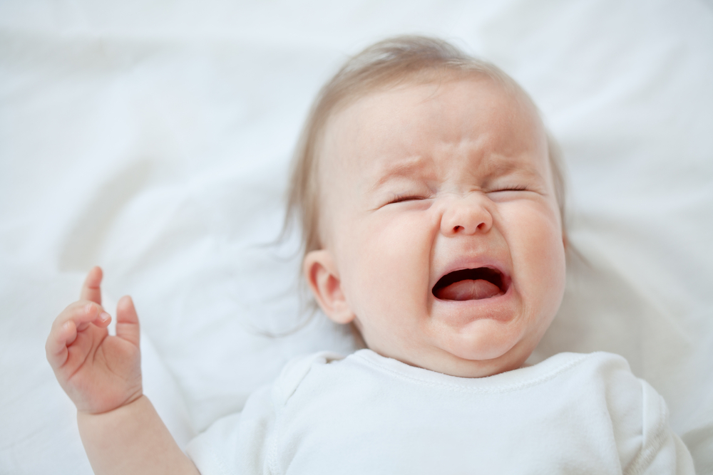 Crying baby in a sleep regression