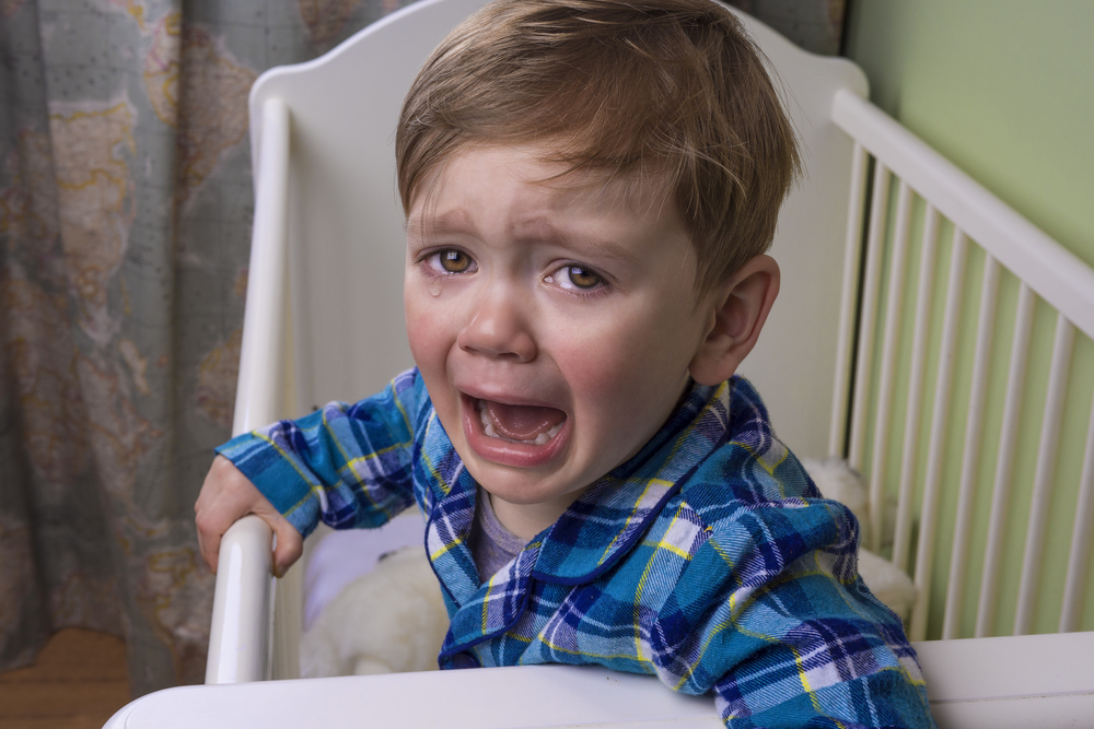Crying Infant not sleeping in crib
