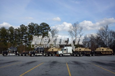 M88 military tank shipment