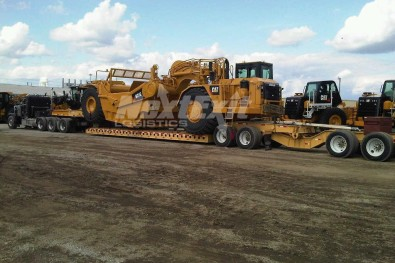CAT construction equipment shipment