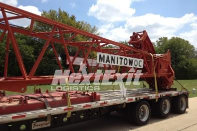 Manitowoc crane shipment