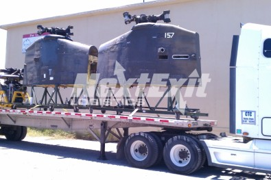 Helicopter parts flatbed shipment