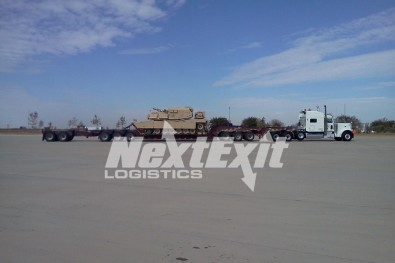 Military Tanks on 12 Axle Trailer