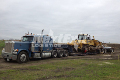 8 axle construction equipment shipment