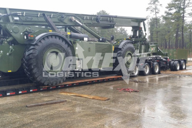 Kalmar construction equipment shipping rain