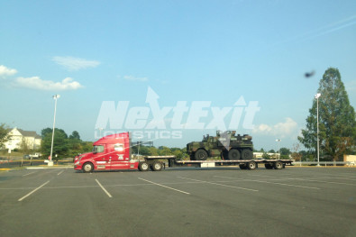 Military vehicle shipment 5-axle