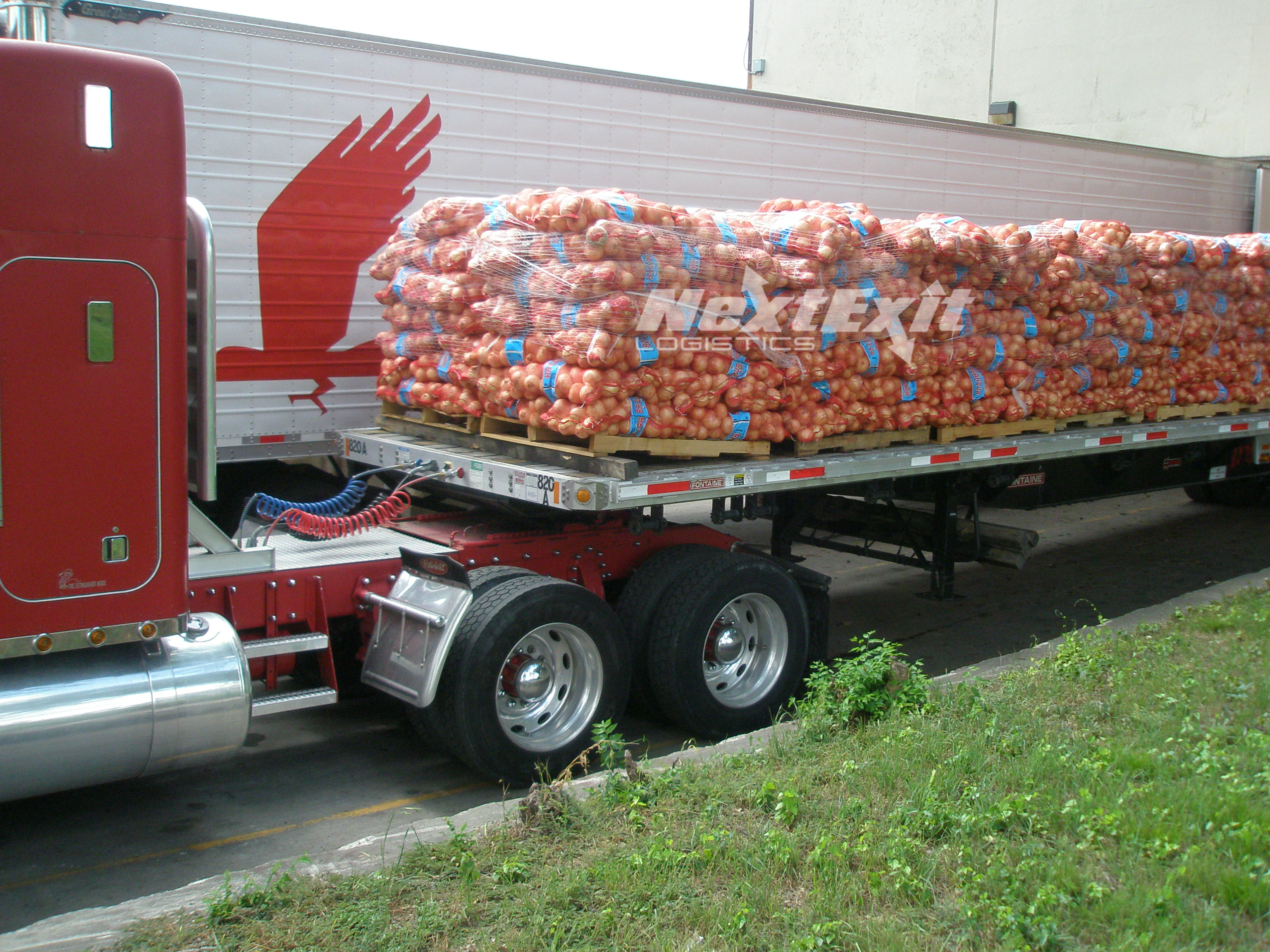 48' Flatbed loaded with 45K pounds of Yellow Onions Hereford to Dallas 5