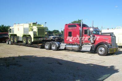 Fire Truck Unloading