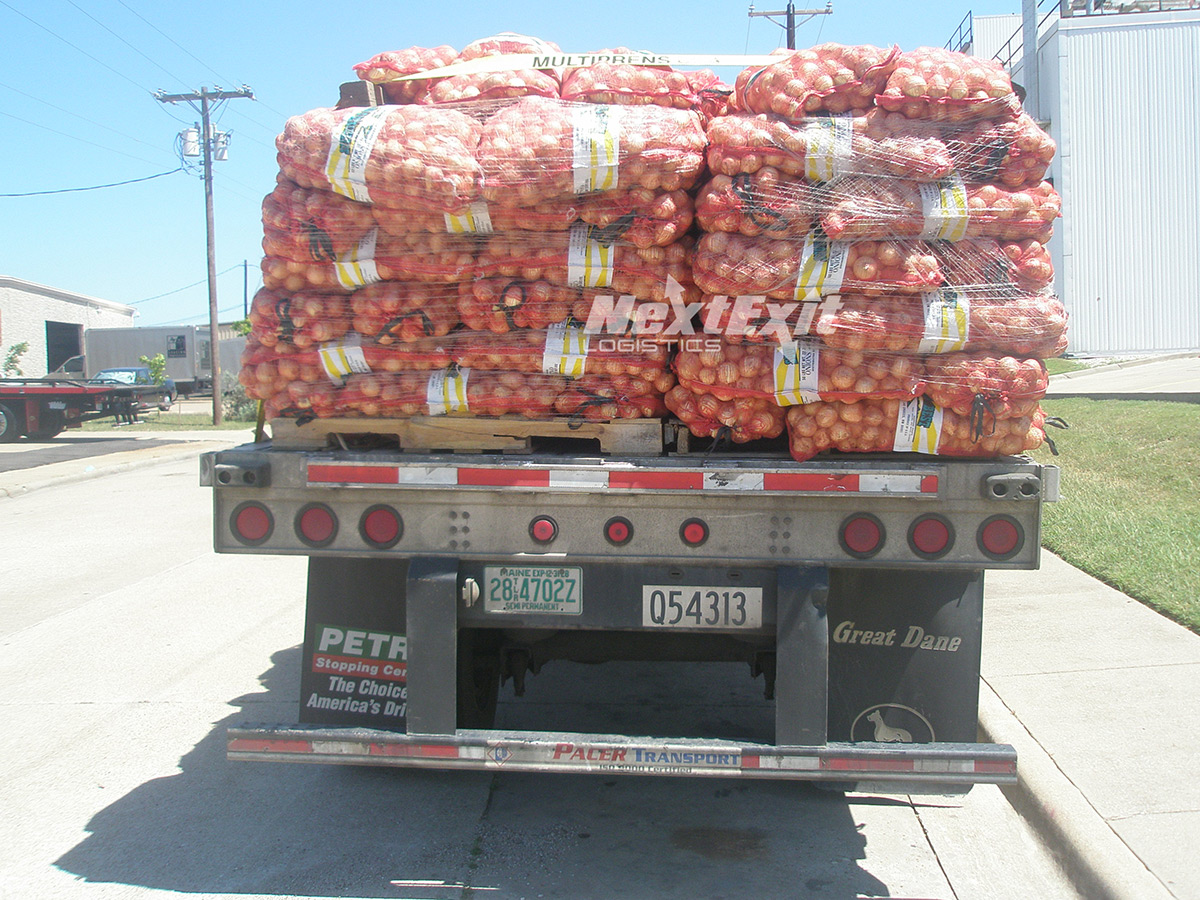 Flatbed with Yellow Onions