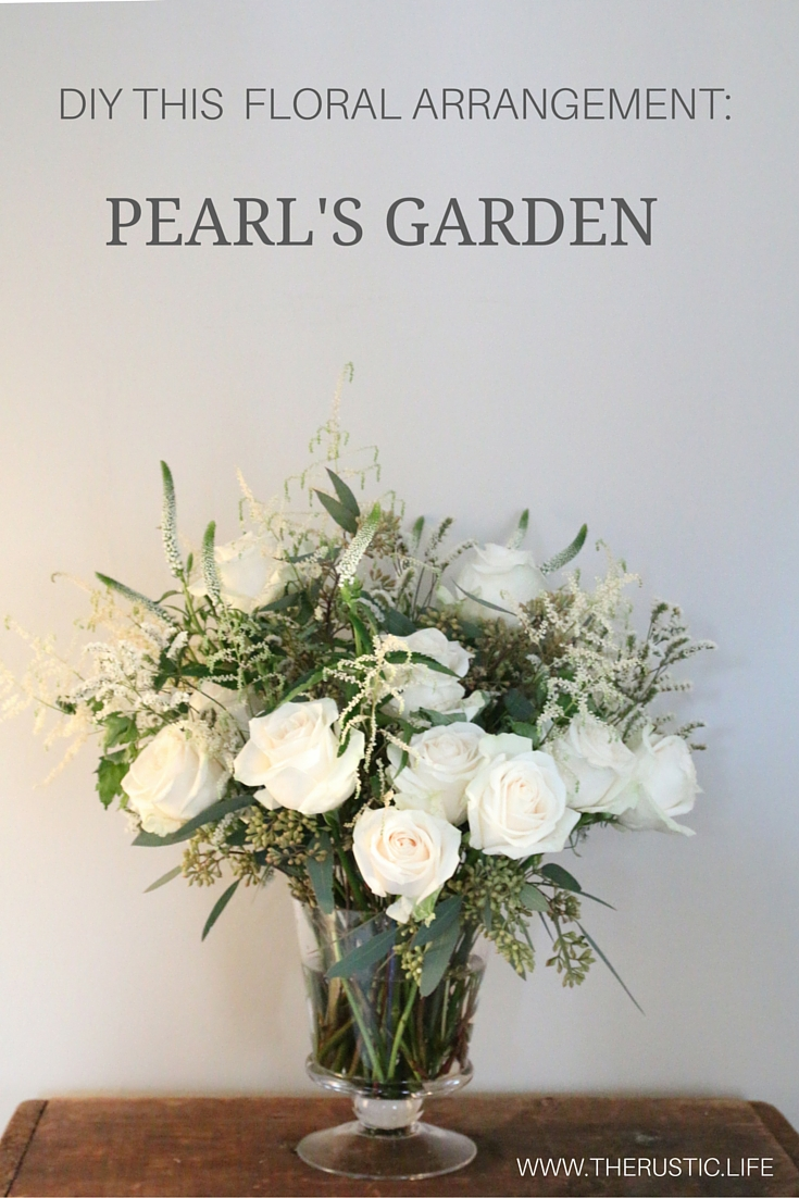 PEARLS GARDEN floral arrangement from www.therustic.life