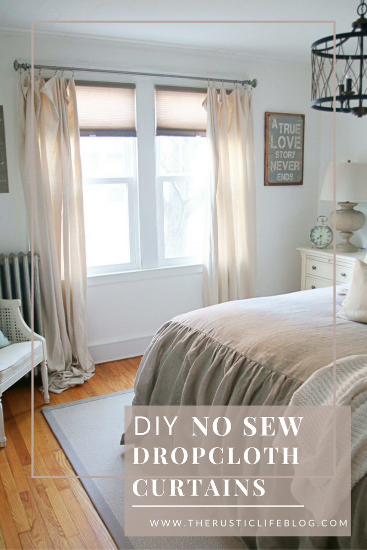Now Sew Drop Cloth Curtains