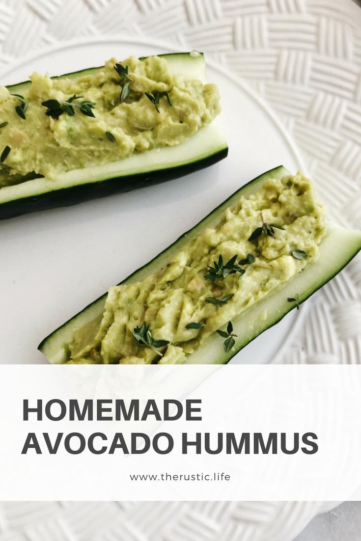 home made avocado hummus