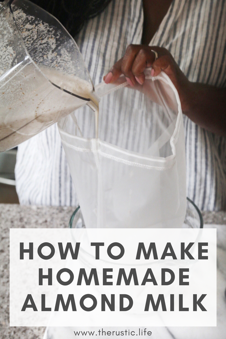 how to make home made almond milk