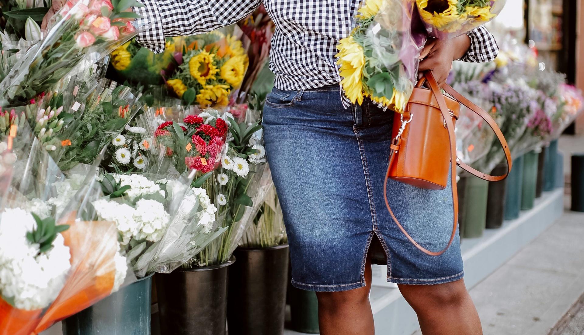 denim skirts for plus size women