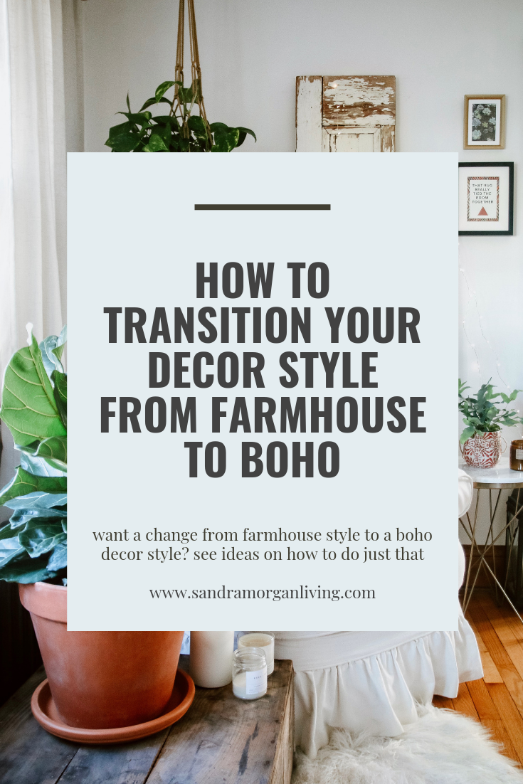 how to transition decorating style on a budget