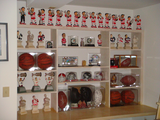 Various Hockey collectibles from Silverman's collection.