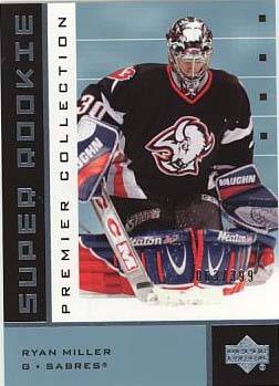 2002-03 UD Premier Collection 46B Ryan Miller RC