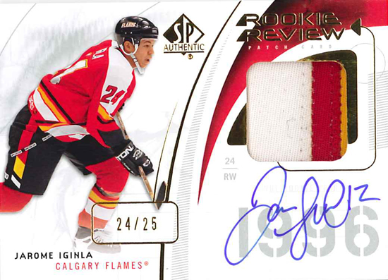 0910 SPA Rookie Review Patch - Iginla