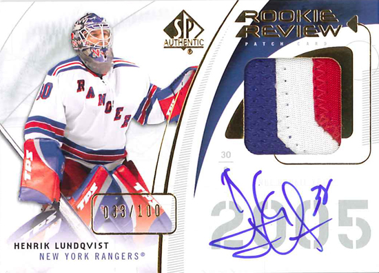 0910 SPA Rookie Review Patch - Lundqvist