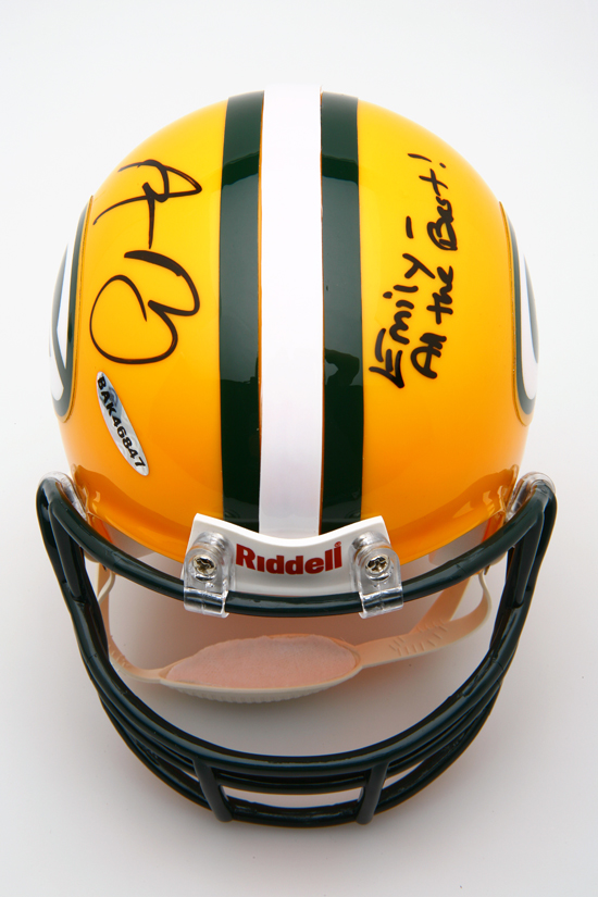 Third-Place Prize: Aaron Rodgers Signed Mini Helmet