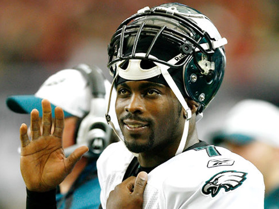 Philadelphia Eagels quarterback Michael Vick