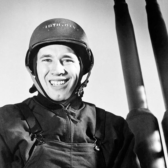 Gun Captain Bob Feller during World War II.