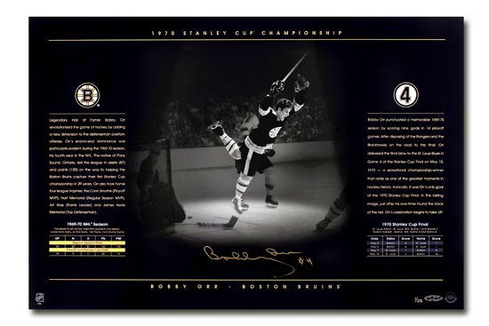 Bobby Orr Autographed 16 x 24 UDA Photo