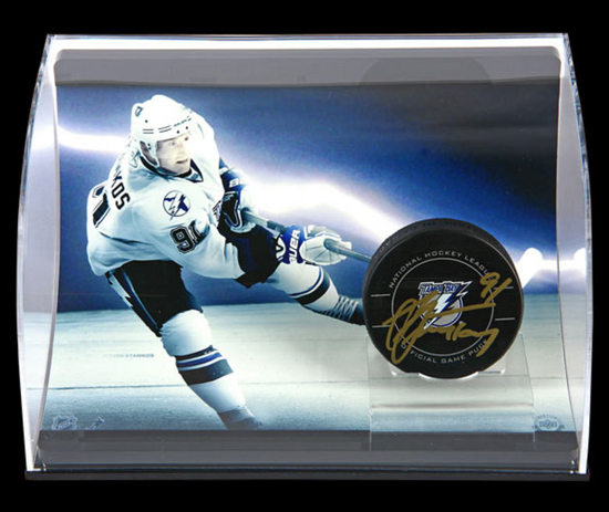 Steven Stamkos Autographed Curve Puck Display from UDA