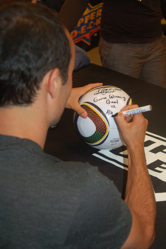 Landon Signs FIFA World Cup Ball
