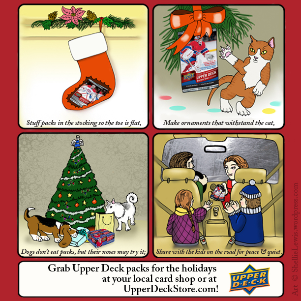 upper deck holiday christmas stocking tree collect