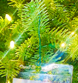 upper deck holiday christmas tree ornament