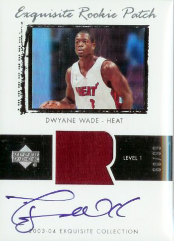 Miami Heat Dwyane Wade Exquisite Rookie