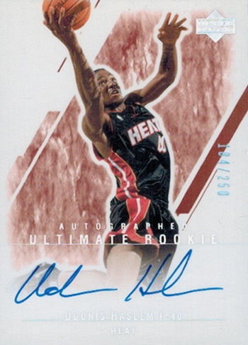 Miami Heat Rookie Card Udonis Haslem