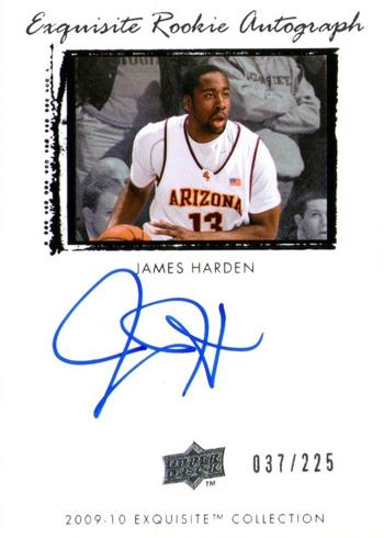 James Harden Rookie Autograph Card