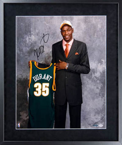 Durant signed photo