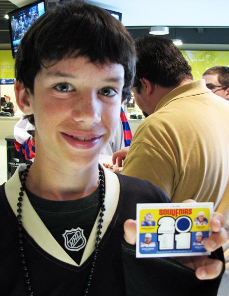 UD Draft Kid Rangers jersey Card