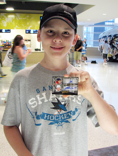 Upper Deck Kid Pulls Stamkos and Ovechkin Autograph