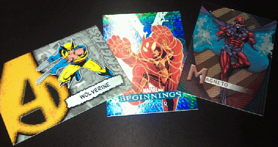 marvel entertainment trading cards