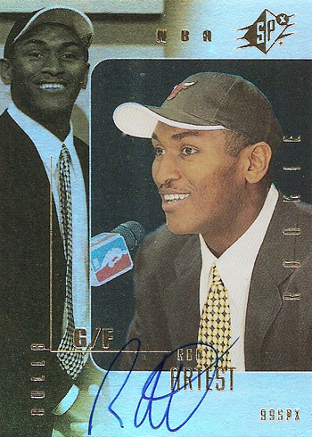 Ron Artest SPx Rookie Autograph card