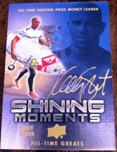 Kelly Slater shining through autograph all time greats