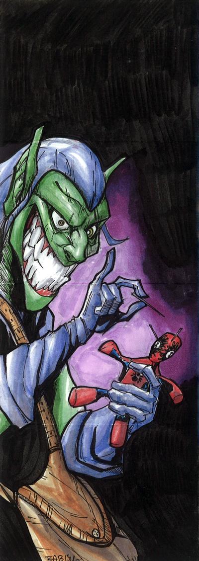 2012-Upper-Deck-Marvel-Premier-Multi-Panel-Sketch-Cards-Babisu-Kourtis-Green-Goblin-Inside