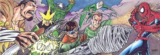 2012-Upper-Deck-Marvel-Premier-Multi-Panel-Sketch-Cards-Chris-Bradberry-Sinister-Six-Spiderman-Inside