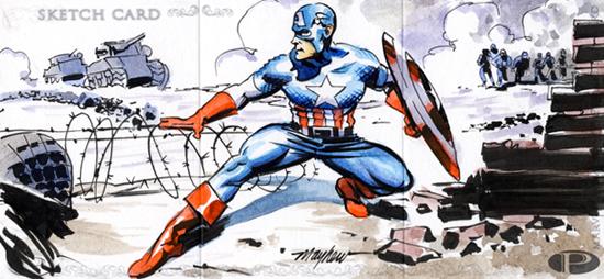 2012-Upper-Deck-Marvel-Premier-Multi-Panel-Sketch-Cards-Mike-Mayhew-Captain-America-Inside